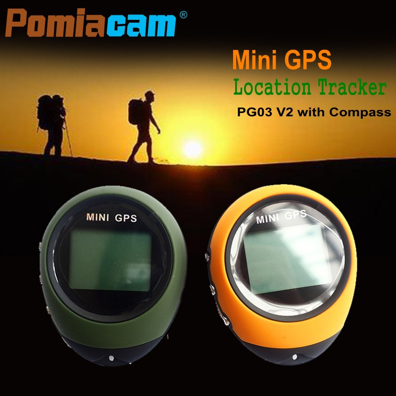 Handheld Mini GPS Navigation Keychain PG03 V2 USB Rechargeable Location Tracker Compass For Outdoor Explorer Travel Climbing bask explorer v2