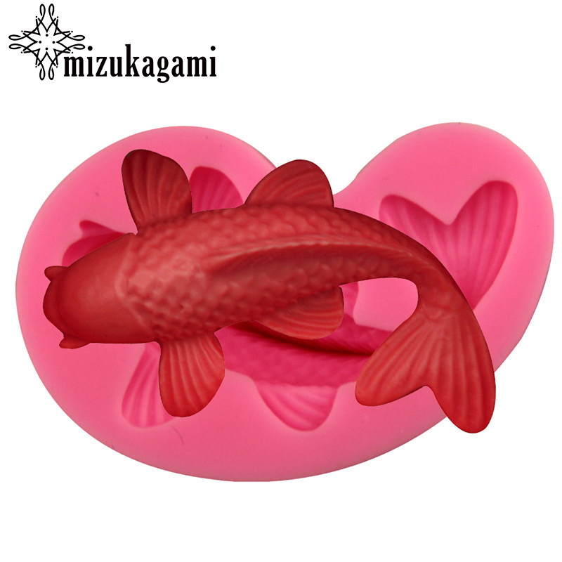 1pcs UV Resin Jewelry Liquid Silicone Mold 3D Fish Resin Charms Pendant Mold For DIY Silicone Resin Mold For Jewelry Making