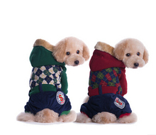Dog Pet Winter Clothes Dog Coat Hoodie Thicken Winter Down Jackets Jumpsuit For Puppy Fashion Design