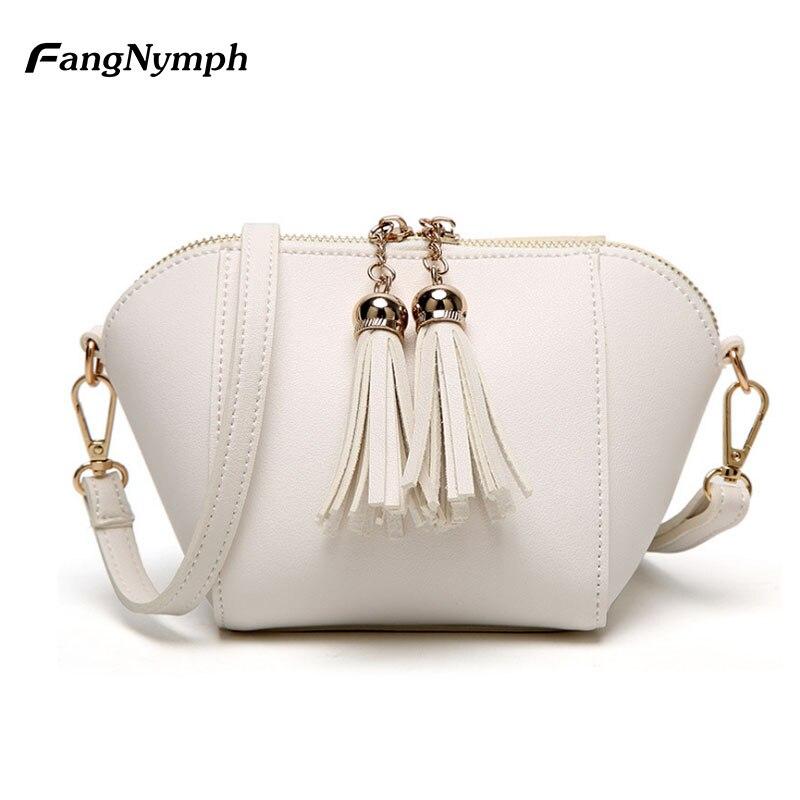 FangNymph Luxury Handbags Women Bags Designer Woman Leather Bag Mini Crossbody Bags for Women 2018 Girls Shoulder White Hand Bag все цены