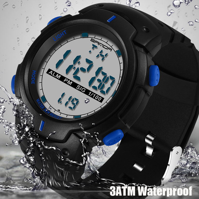 2018 SANDA Fashion Men Sports Watches Waterproof Outdoor Fun Digital Watch Swimming Diving Wristwatch Reloj Hombre Montre Homme
