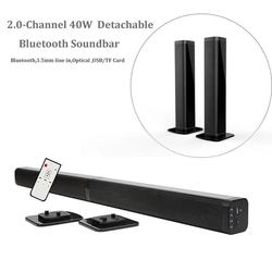 Ultra slim Detachable Bluetooth TV Sound bar 37 inch wireles speaker built-in subwoofer soundbar with optical for LED TV
