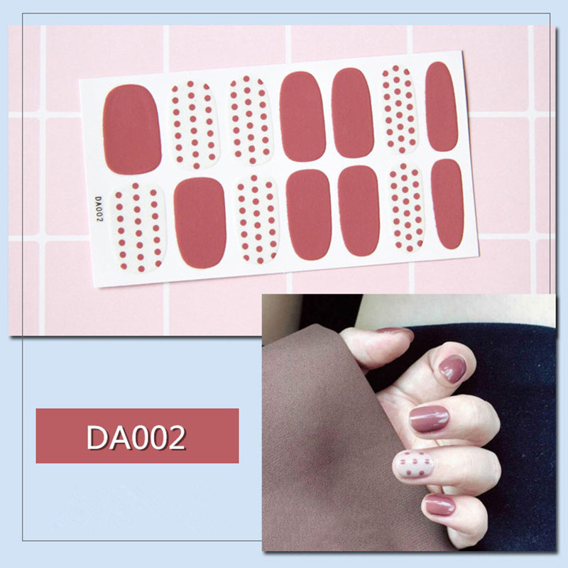 ALI shop ...  ... 32909512053 ... 3 ... 14tips/sheet Full Cover Nail Stickers Wraps DIY Nail Art Decals Plain Stickers Self Adhesive Nail Stickers Flamingo Valentine ...