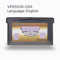 Pokemoon Shiny Gold 32 Bit Video Game Cartridge Console Card US Version English