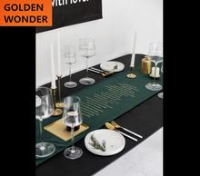 New Arrival Table Runner Beautiful Home Decor Fashion Simple Runners Green Color High Quality