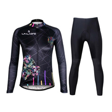 ILPALADINO 2017 Cycling Jersey Women Autumn Bicycle Long Sleeve Clothing Sets MTB Bike Clothes Roupas de Ciclismo Set For Girls