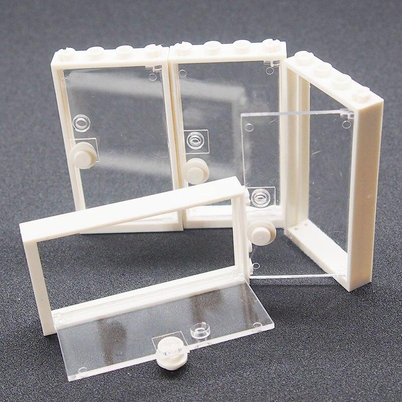 City Block Moc Building Blocks Transparent Door DIY Blocks Friend Figure Compatible Legoings Toy For Kids