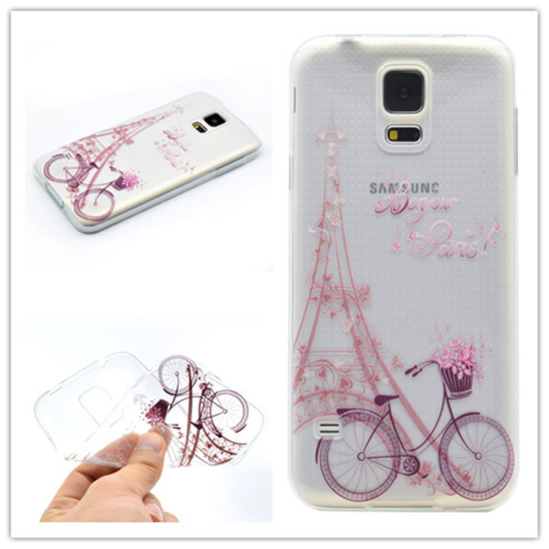 d1ef974d38 Transparent TPU Cover For Samsung Galaxy S5 mini Case Fashion Tower ...