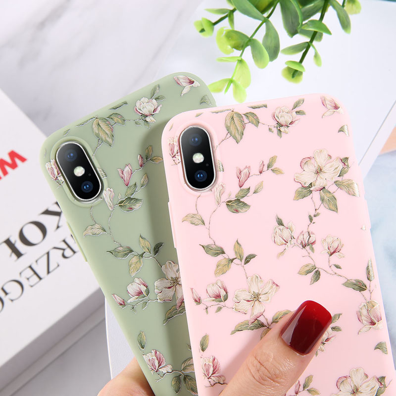 Colorful Floral Leaves Design Phone Cover Shell Made Of High-Quality Soft TPU Material For iPhone Models 5