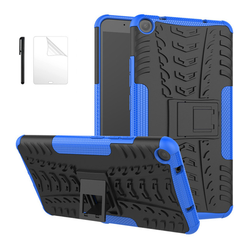 Coque dure armor pour Lenovo Tab 3 TAB3 7 Plus 7703 7703x TB-7703X TB-7703F 7 pouces enfant étui de protection antichoc + Film + Stylet