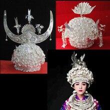 hmong Silver Hat Headwear hmong hat Chinese folk dance accessories