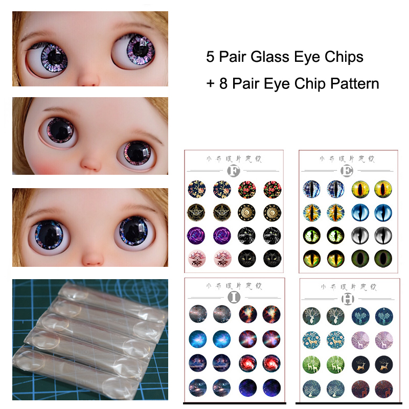 Pair of 12mm Dark Fish Glass Eyes on Wire Pin Posts for Felt Doll Making