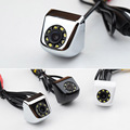 New CCD 140 Degree Wide Angle Waterproof Car Rear View Camera IR 8 LED Night Vision Parking Camera, 4 Layer Glass Lens