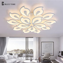 White&Black Arms Modern Led Chandelier For Living Room Bedroom Dining Room Lamp Lustres LED Ceiling Chandelier Lighting Fixtures(China)