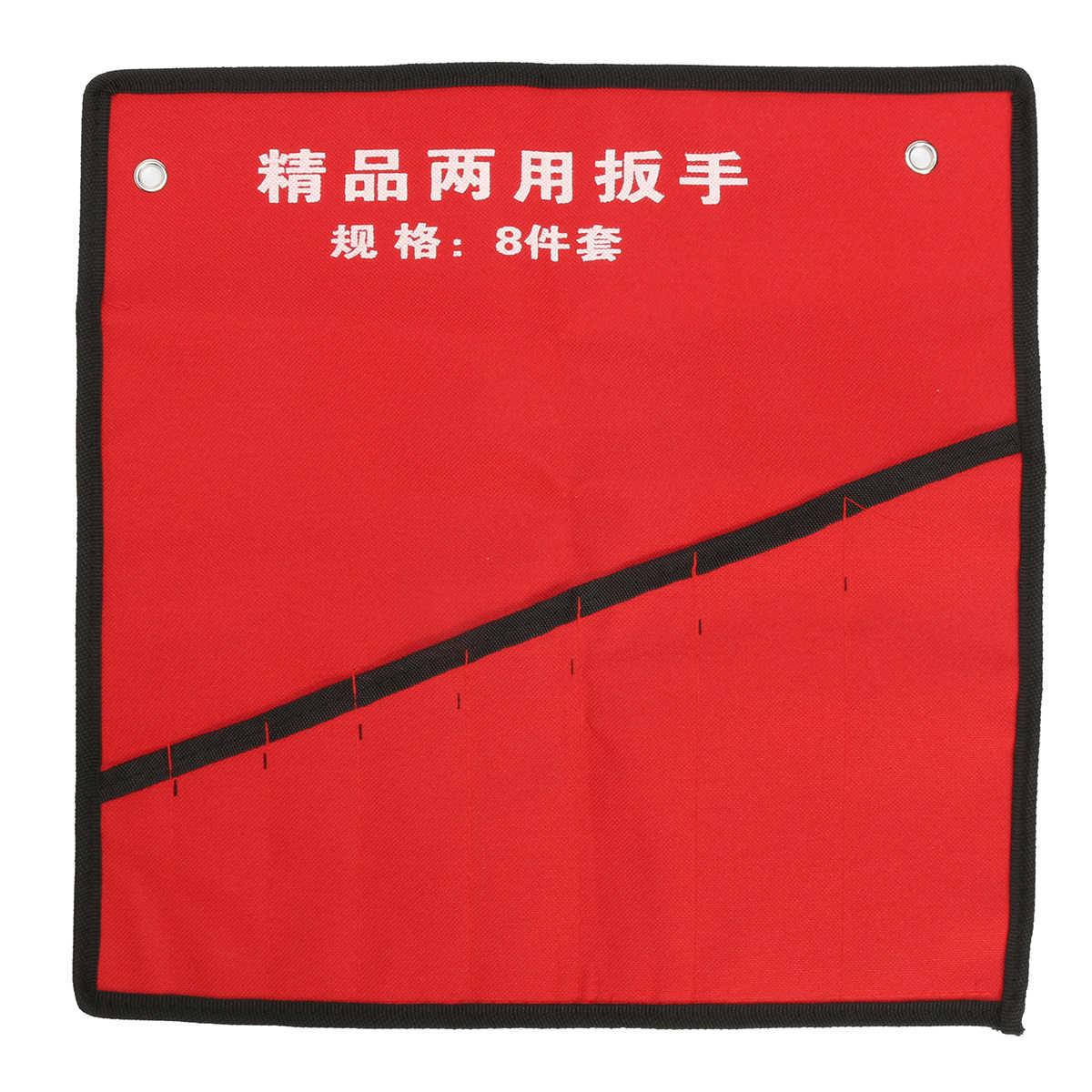 8/10/14 bolsos Roll Up Ferramentas Chave Spanner chave Titular Organizador De Armazenamento Bolsa de Lona Saco De Armazenamento Multifuncional caso Vermelho