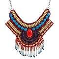 Material de Resina y Perlas de bohemia Collares y Colgantes Joyería de La Vendimia de La Manera Collar de La Joyería Declaración para Las Mujeres N3691