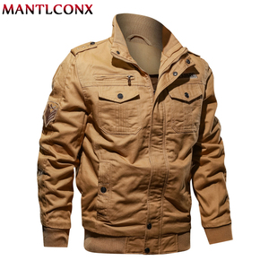 Image 4 - MANTLCONX 6XL kurtka wojskowa mężczyźni zima dorywczo gruby płaszcz termiczny armia kurtki pilotki Air Force kurtka Cargo wiatrówka Pakas
