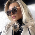 2017 Newest Luxury Diamante Flower Frame Sunglasses Cosy Shades Women Brand Designer Eyewear Sun Glasses Oculos H158