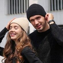 Beanie Men Winter Knit Hat Women Warm Angora Ski Accessory Brim Soft Casual Stretchy Outdoor Headwear