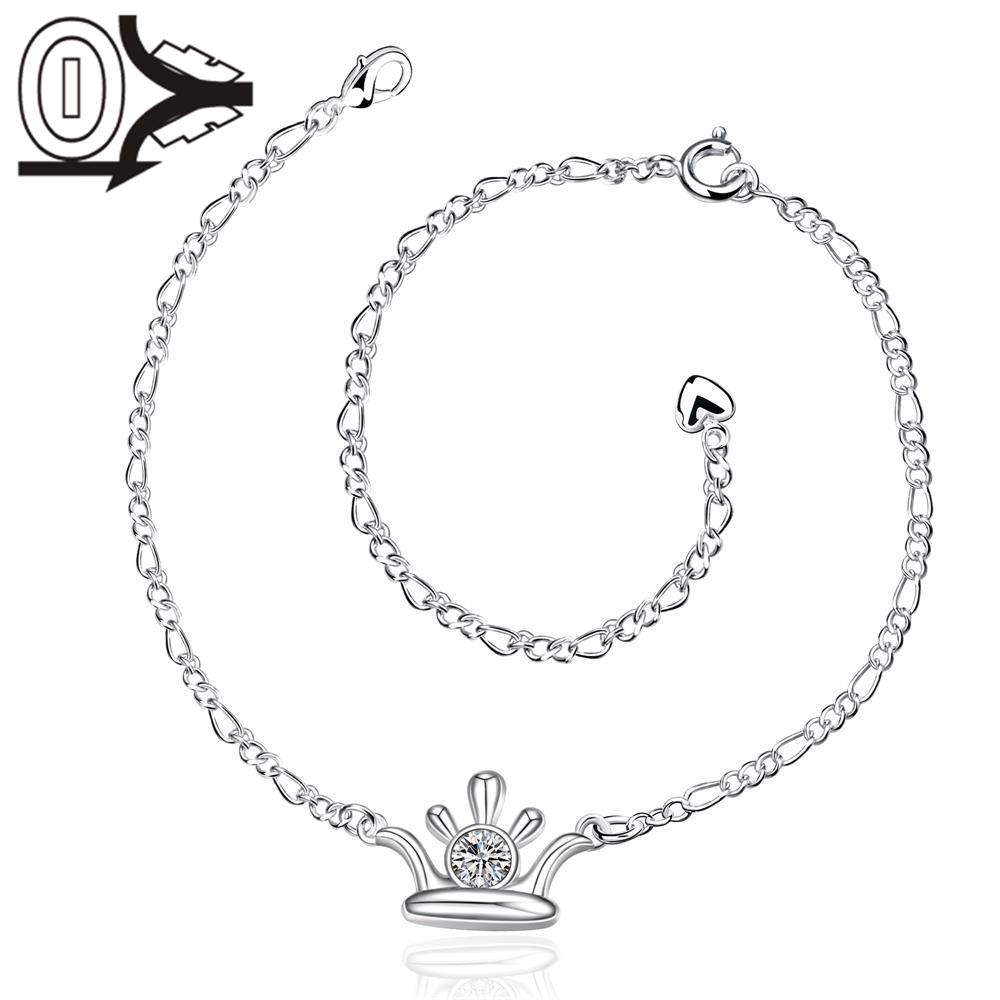 A031   Silver Anklets New Design Large Stock Delicate Handmade Cheap Silver Plated Anklet Ladies Feet Chain Bracelets Bulk Sale
