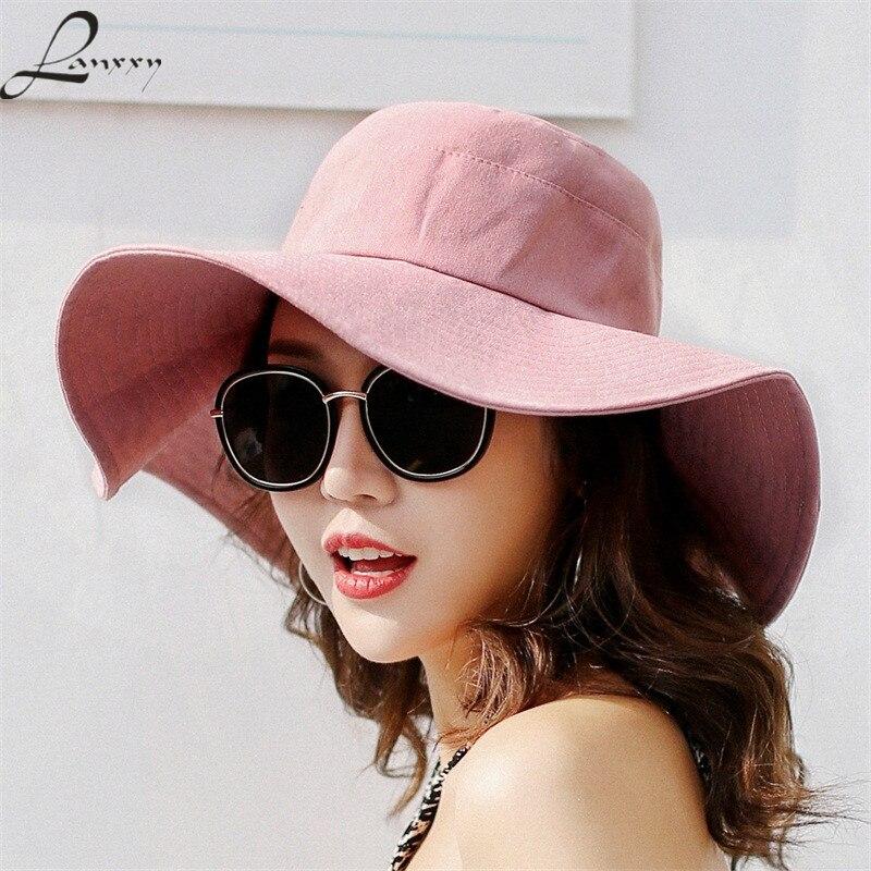 Eimer-hüte Lanxxy Frauen Neue Floppy Strand Sonnenhut Sommer Breite Krempe Angeln Kappe Panama Damen Eimer Hüte Elegantes Und Robustes Paket