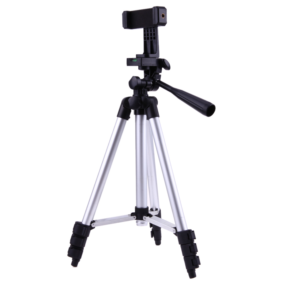 Pliable Caméra Titulaire Trépied, 1/4 Vis 360 Degrés Pivotant Fluide Tête Trépied Pour iPhone Samsung Téléphones intelligents