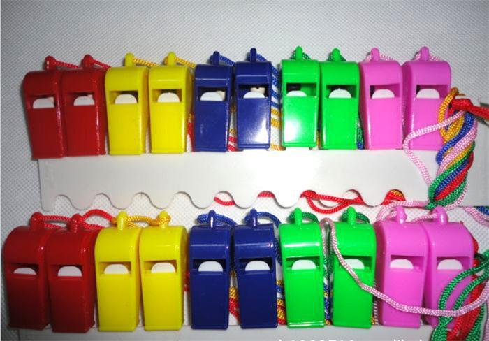 JETTING-24PCS Plastic Whistle With Lanyard For Boats Raft Party Sports Games Emergency Survival All Brand New Items