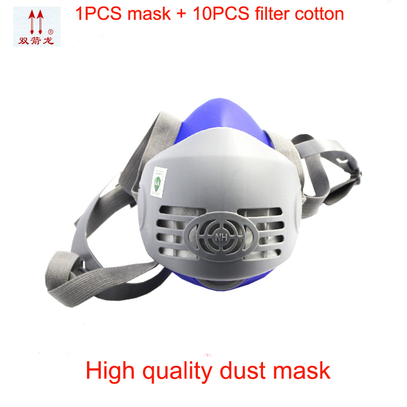 все цены на classic style respirator dust mask high quality Silica gel profession respirator mask Configuration 10PCS filter cotton mask онлайн