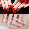 24pcs/Pack Solid Color French False Nails Nail Art Design Nail Tips With Glue