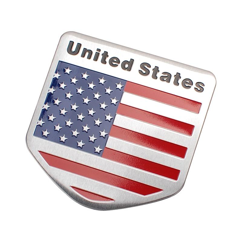 Metal American Us Flag Car Sticker Logo Emblem Badge Car Styling