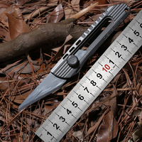 District 9 Original Paper knife Titanium Handle Olfa stainless steel blade Pruning pocket outdoor camping knife knives EDC tools