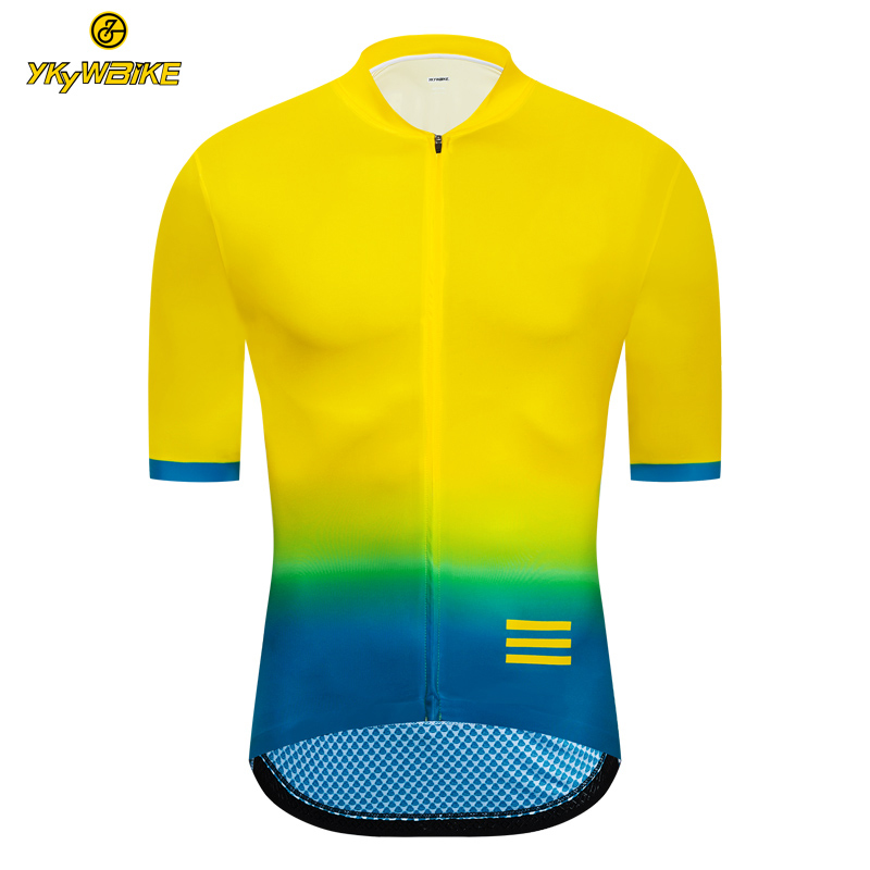 YKYWBIKE 2019 Cycling Jersey Men Pro Team Lightweight Short Sleeve Mountain Bike Jersey Seamless Process Custom Bicycle Clothing