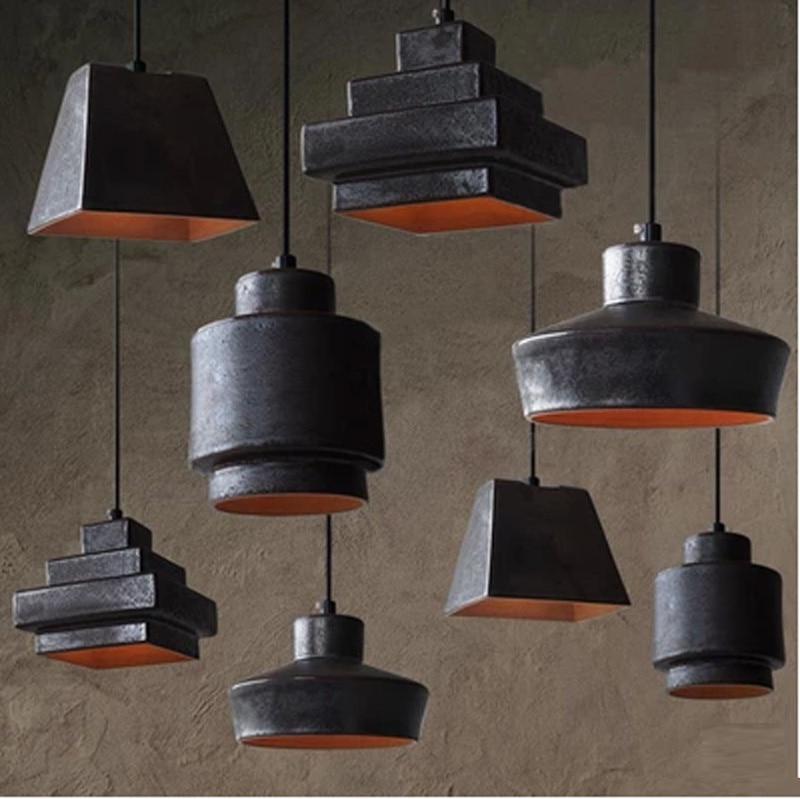 Vintage industrielle éclairage lampe en céramique salon Suspension ...