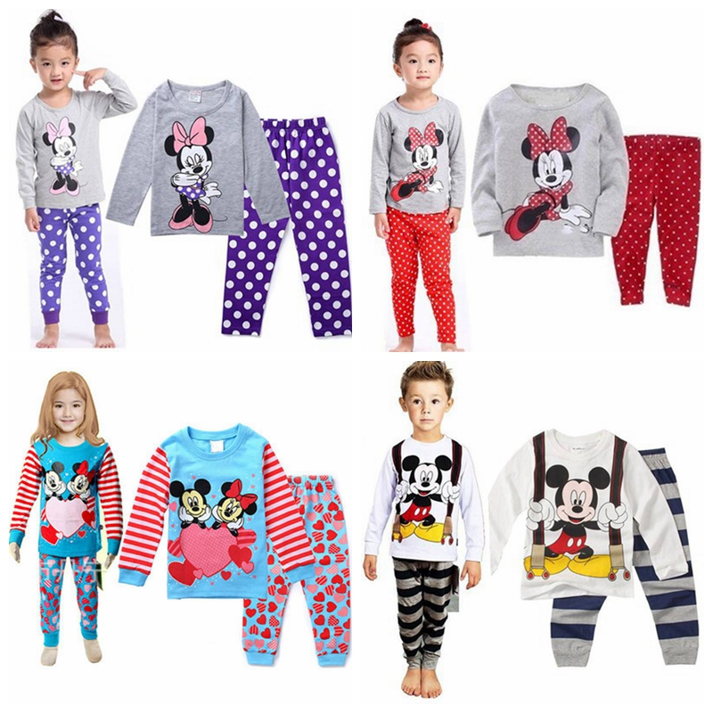 15023cda7668 New Kids Baby Boys Cartoon Pajama Sets 2PCs Children Sleepwear ...