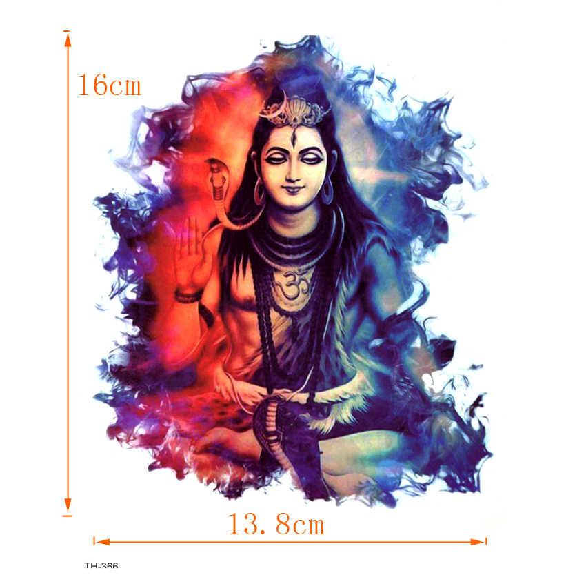 Indian Shiva Waterproof Temporary Tattoo Sticker On Body Art Tattoo Snake Fake Tattoo Henna Temporary Tatoo Sleeve