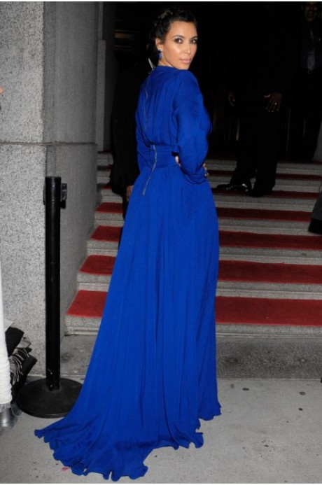 Azul 2019 vestidos Formais Da Celebridade Vestidos