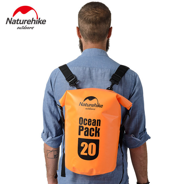 25170e85e79 Naturehike Ocean pack 20L 30L Waterproof bag Portable Backpack For Camping  Canyoneering Swimming Travel FS16M030-L