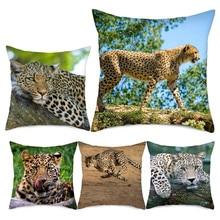 Fuwatacchi Animal Leopard Cushion Covers Cheetah Printed Pillow Cover for Home Sofa Office Chair Decor Pillowcase 2019