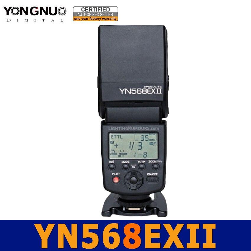 Yongnuo YN568EX II Master Flash E-TTL HSS 1/8000s Speedlight speedlite for Canon 60D 650D 600D 550D 500D 5D 5DmarkII 450D 400D yongnuo ttl flash speedlite yn 565exii yn565ex ii speedlight for canon 6d 7d 70d 60d 600d 650d 5diii 50d 500d 550d 1000d 1100d