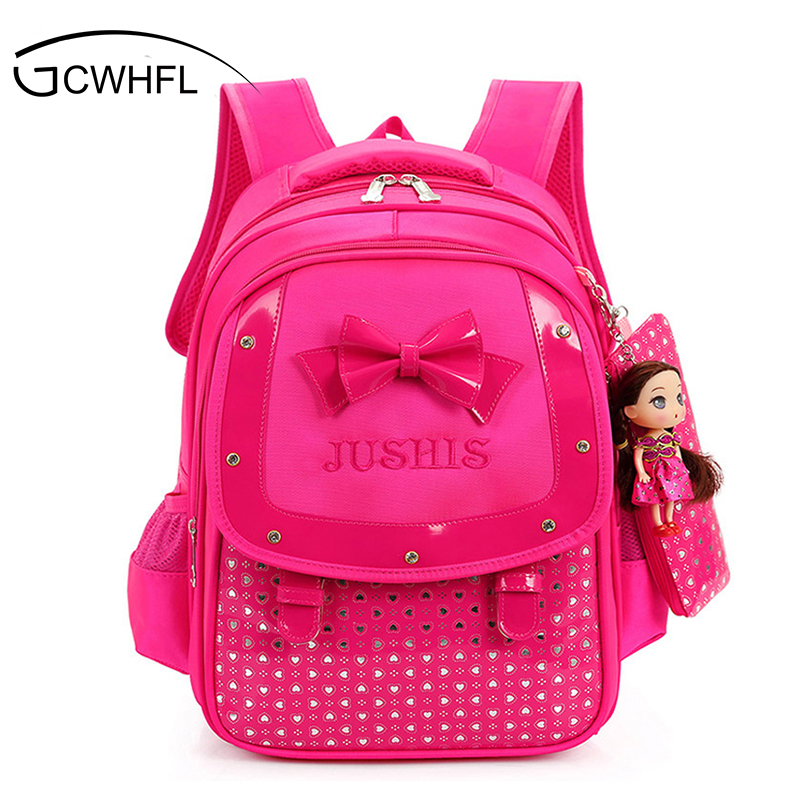 Cute Girls Backpacks Kids Satchel Children School Bags For Girls Orthopedic Waterproof Backpack Child School Bag Mochila Escolar new fashion cartoon backpacks for teenagers girls sofia princess backpack kids school bags cute bag child mochila
