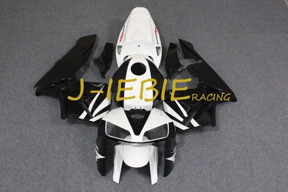 Black white Injection Fairing Body Work Frame Kit for HONDA CBR600RR CBR 600 CBR600 RR F5 2005 2006Black white Injection Fairing Body Work Frame Kit for HONDA CBR600RR CBR 600 CBR600 RR F5 2005 2006