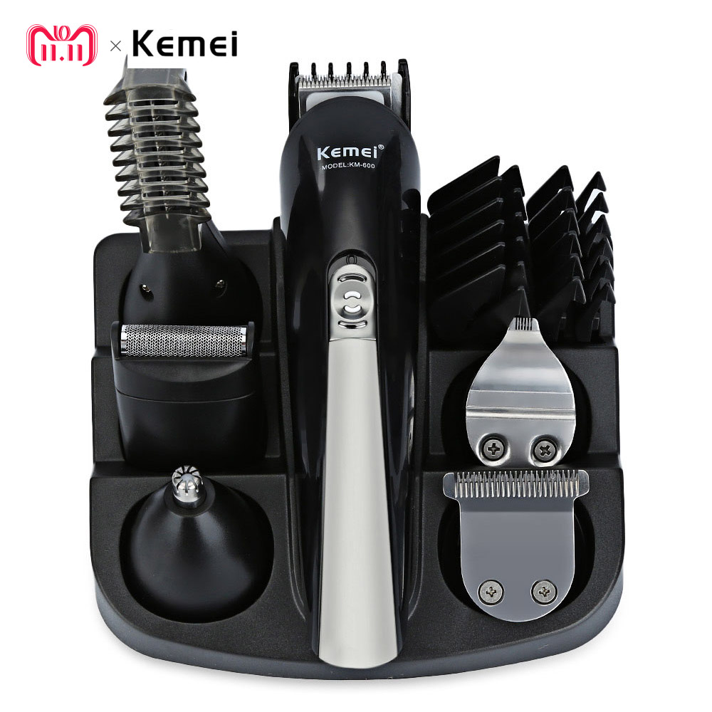 Kemei KM - 600 Professional Hair Trimmer 6 In 1 Hair Clipper Shaver Sets Electric Shaver Beard Trimmer Hair Cutting Machine kemei km 600 professional hair trimmer 6 in 1 hair clipper shaver sets electric shaver beard trimmer hair cutting machine