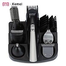 Kemei KM-600 Professional триммер для волос 6 в 1 машинка для стрижки волос бритвы наборы для ухода за кожей электробритва триммер для бороды машинка для стрижки волос