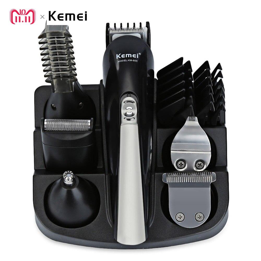 Kemei KM-600 profesional recortadora de pelo 6 en 1 máquina cortadora de pelo eléctrica máquina cortadora de barba afeitadora