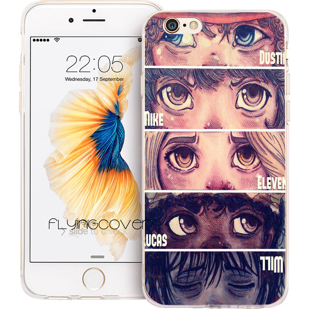 Fundas Stranger Things Eyes Phone Cases for iPhone 10 X 7 8 6 6S Plus 5S 5 SE 5C 4S 4 iPod Touch 6 5 Clear Soft Silicone Cover.