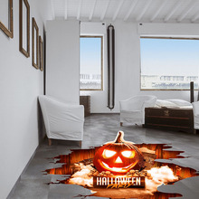 Scary Halloween 3D Stickers Pumpkin Shaped Window Floor Stickers Decoration Decal