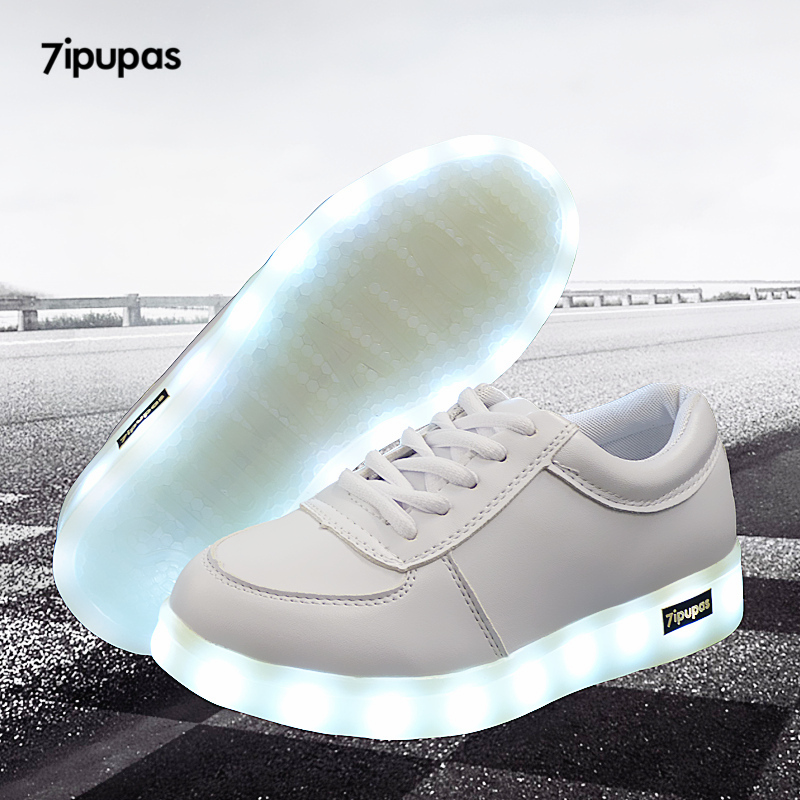 7ipupas Colorful Luminous Sneakers Unisex Led Shoe Boy With Lighted Sole For Kids Light Up Shoe Girl Glowing Usb Charge Sneakers