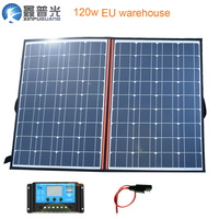 XINPUGUANG 120w (2*60w) Flexible Foldable Mono Solar Panel Light Portable High Power Outdoor Solar Charge for Travel Boat Hiking