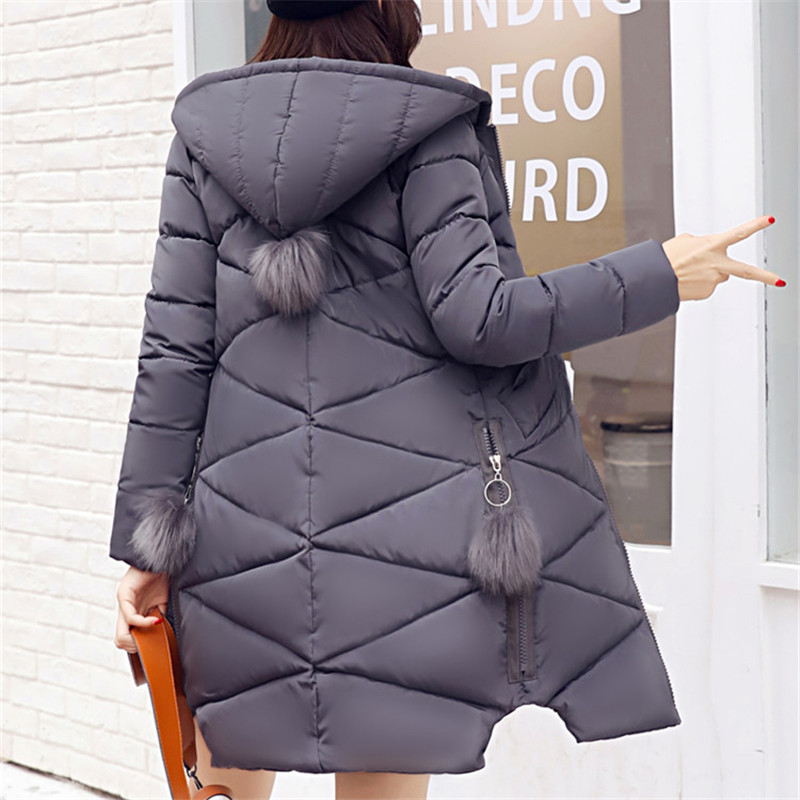 New Long Jacket Women Winter Slim Solid Coat Female Down Cotton Clothing Thicken Padded Parka Hooded Jackets Casual Outwear muxu new autumn winter coat women basic jacket coat female slim hooded cotton coats casual silver long sleeve ladies jackets