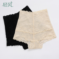 High Quality Silk Tights Inner Pure Mulberry Silk Lace Waist Abdomen Slimming Shorts